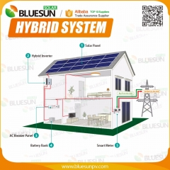 Hybrid 150KW solar power system on grid with battery backup